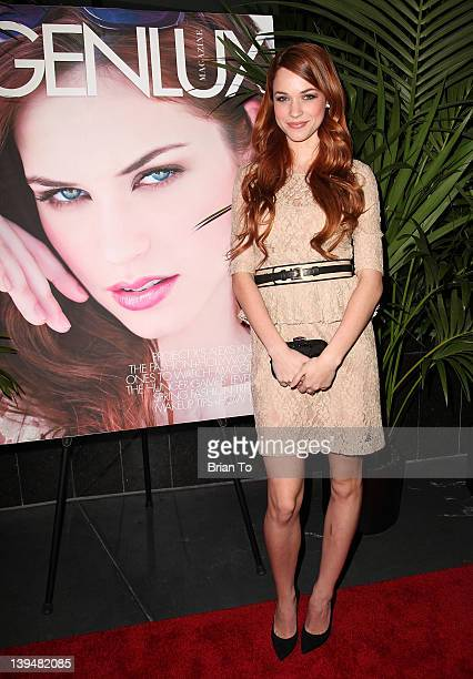 Actress Alexis Knapp attends BB Forever Brigitte Bardot The Legend photo exhibition opening hosted by Genlux at Sofitel Hotel on February 21 2012 in...