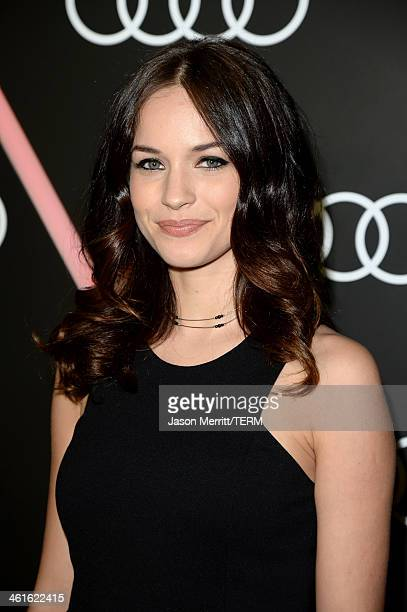 Actress Alexis Knapp attends Golden Globes Weekend Audi Celebration at Cecconi's on January 9 2014 in Beverly Hills California