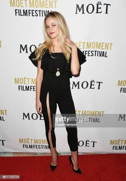 Actress Alexis Knapp attends Moet Chandon Celebrates 3rd Annual Moet Moment Film Festival and Kick Off of Golden Globes Week at Poppy on January 5...