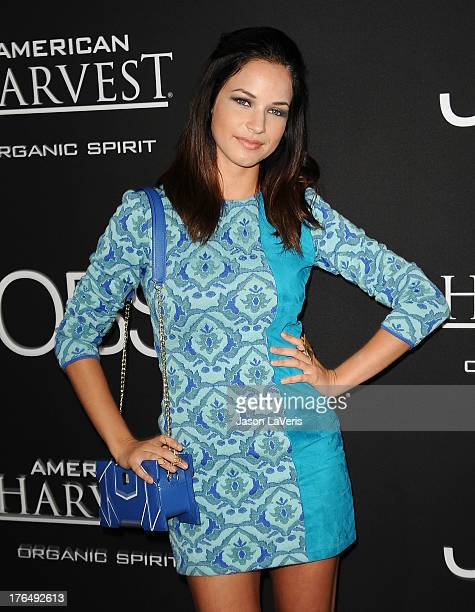 Actress Alexis Knapp attends the premiere of 'Jobs' at Regal Cinemas LA Live on August 13 2013 in Los Angeles California
