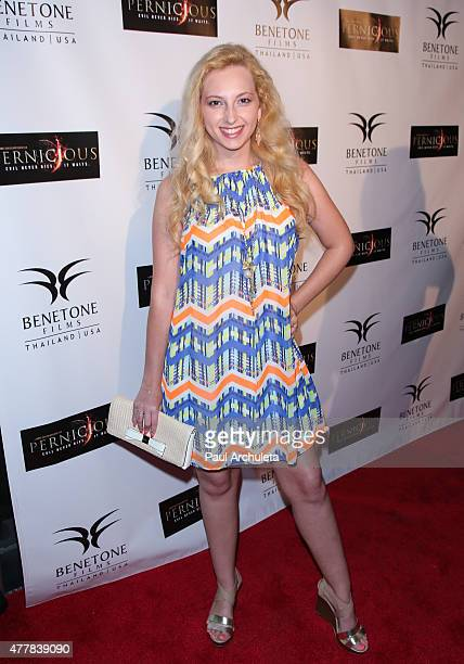 Actress Alexis Nolan attends the premiere Pernicious at Arena Cinema Hollywood on June 19 2015 in Hollywood California