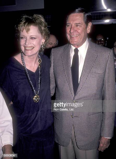Actress Alexis Smith and actor Craig Stevens attend James Watters' Return Engagement Faces to RememberThen and Now Book Party on November 28 1984 at...