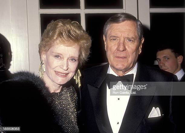 Actress Alexis Smith and actor Craig Stevens attend the Gitter and Be Giving Fine Jewelry Auction to Benefit amfAR on December 10 1991 at Regent...