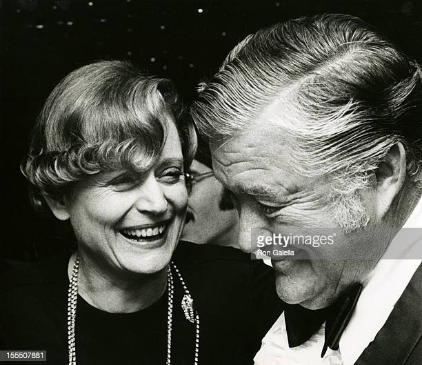 Actress Alexis Smith and actor Dennis Morgan attend Hooray For Hollywood Benefit Gala on September 25 1973 at Pub Theatrical in New York City