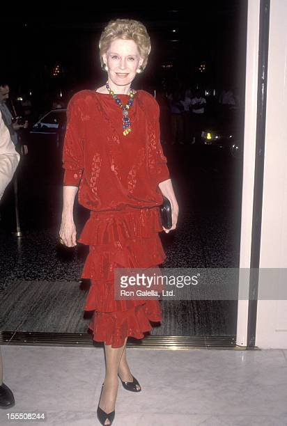 Actress Alexis Smith attends the American Cinema Awards Foundation Hosts Senator George Murphy's 88th Birthday Party/65th Anniversary in Show...