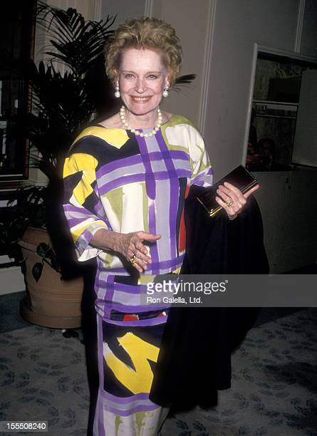 Actress Alexis Smith attends the Fifth Annual American Cinema Awards on January 30 1988 at Beverly Hilton Hotel in Beverly Hills California