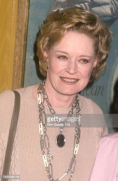 Actress Alexis Smith attends The Hollywood Reporter Salute Radie Harris on March 21 1985 at Beverly Hills Hotel in Beverly Hills California