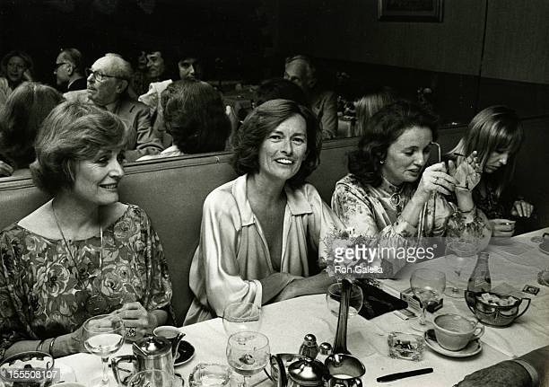Actress Alexis Smith Diane Judge and Kathleen Carroll attend the book party for Mildred Newman How To Take Charge Of Your Life on June 27 1978 at Il...