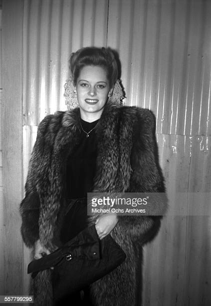 Actress Alexis Smith stops and poses for a photograph in Los Angeles California