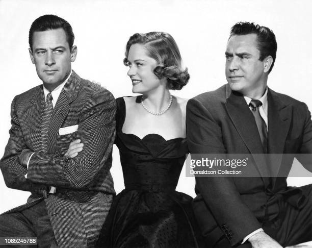 Actress Alexis Smith William Holden Edmond O'Brien in a scene from the movie 'The Turning Point'