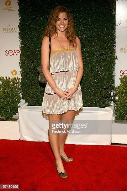 Actress Alexis Thorpe arrives at the annual Daytime Emmy nominee party presented by SOAPnet held at the Hollywood Roosevelt Hotel on April 27 2006 in...
