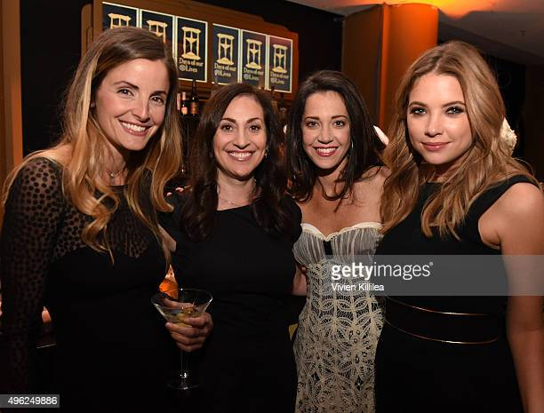 Actress Alexis Thorpe writer Stefanie Sloane and actresses Heather Lindell and Ashley Benson attend the Days Of Our Lives' 50th Anniversary...