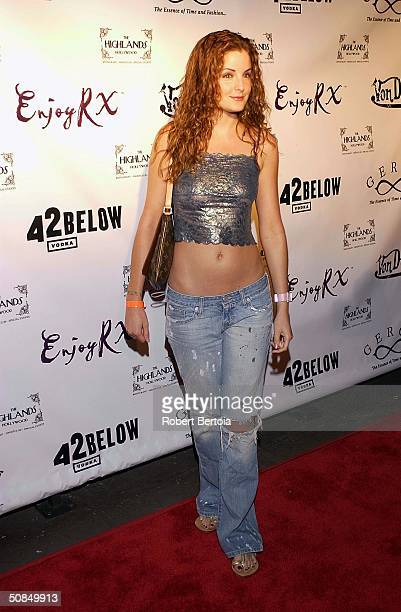 Actress Alexis Thurman arrives to Dennis Rodman's 43rd Birthday Party at the Highlands on May 14 2004 in Hollywood California