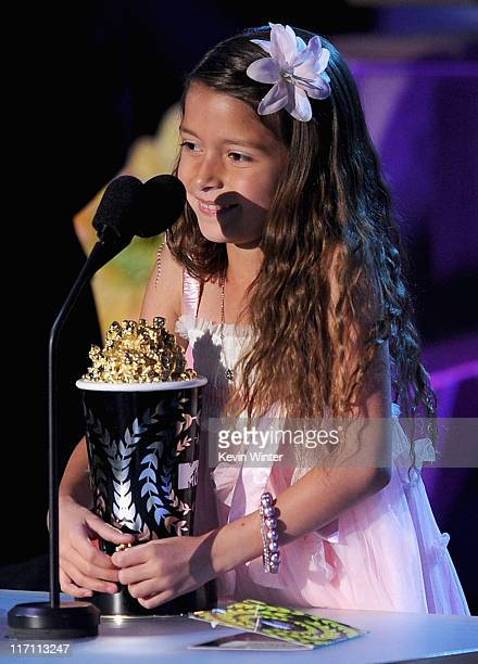 Actress Alexys Nycole Sanchez accepts the Best Line From A Movie award onstage during the 2011 MTV Movie Awards at Universal Studios' Gibson...