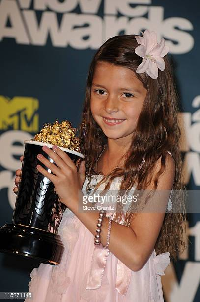 Actress Alexys Nycole Sanchez poses in the press room during the 2011 MTV Movie Awards at Universal Studios' Gibson Amphitheatre on June 5 2011 in...