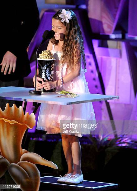 Actress Alexys Nycole Sanchez speaks onstage during the 2011 MTV Movie Awards at Universal Studios' Gibson Amphitheatre on June 5 2011 in Universal...