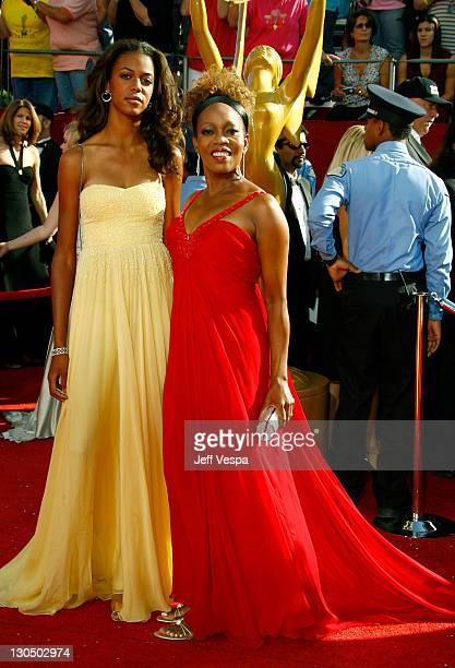 Actress Alfre Woodard and daughter Mavis Spencer arrive at the 60th Primetime Emmy Awards at the Nokia Theater on September 21 2008 in Los Angeles...