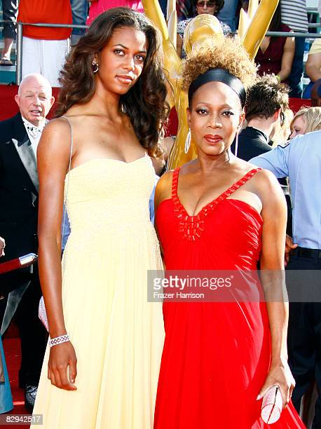 Actress Alfre Woodard and daughter Mavis Spencer arrive at the 60th Primetime Emmy Awards held at Nokia Theatre on September 21 2008 in Los Angeles...