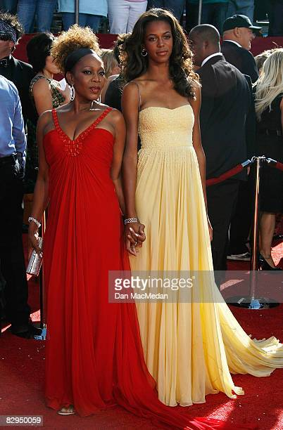 Actress Alfre Woodard and daughter Mavis Spencer arrive at the 60th Primetime Emmy Awards at the Nokia Theatre on September 21 2008 in Los Angeles...