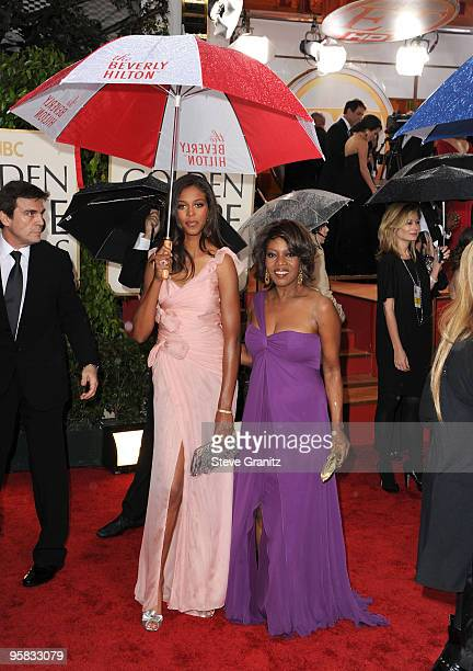 Actress Alfre Woodard and daughter Mavis Spencer arrive at the 67th Annual Golden Globe Awards at The Beverly Hilton Hotel on January 17 2010 in...