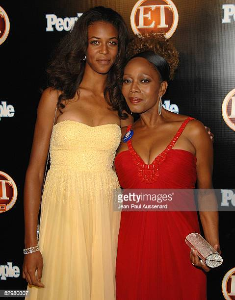 Actress Alfre Woodard and daughter Mavis Spencer arrive at the Entertainement Tonight Emmy party held at the Walt Disney Concert Hall on September 21...