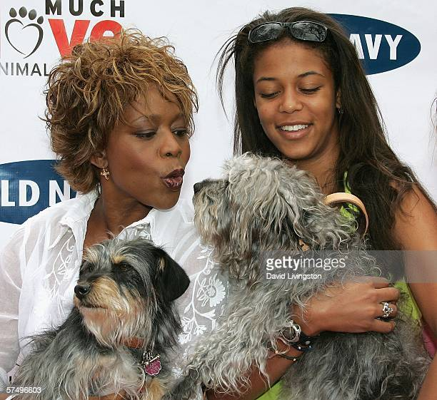 Actress Alfre Woodard and her daughter Mavis attend Old Navy's kick off event in it's nationwide search for a new canine mascot at Franklin Canyon...
