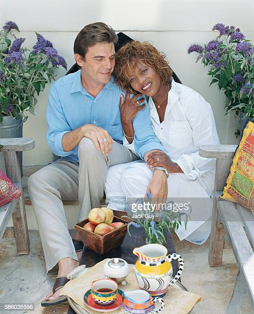 Actress Alfre Woodard and husband Roderick Spencer are photographed for InStyle Magazine in 2003 in Santa Monica California PUBLISHED IMAGE
