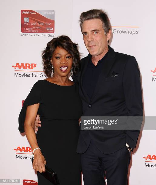 Actress Alfre Woodard and husband Roderick Spencer attend AARP's 16th annual Movies For Grownups Awards at the Beverly Wilshire Four Seasons Hotel on...