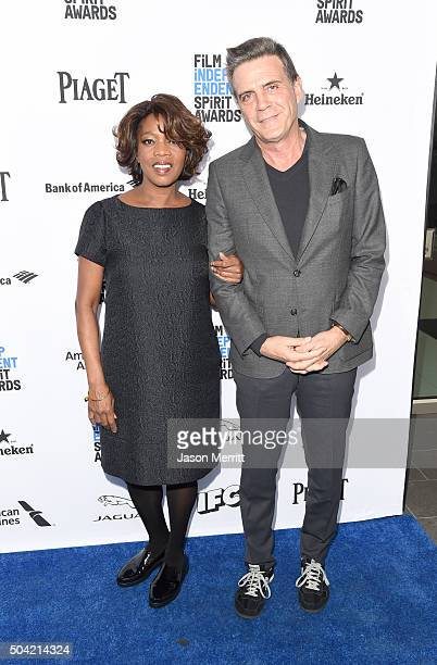 Actress Alfre Woodard and Roderick Spencer attend 2016 Film Independent Filmmaker Grant and Spirit Award Nominees Brunch at BOA Steakhouse on January...