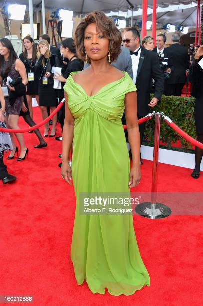Actress Alfre Woodard arrives at the 19th Annual Screen Actors Guild Awards held at The Shrine Auditorium on January 27, 2013 in Los Angeles,...