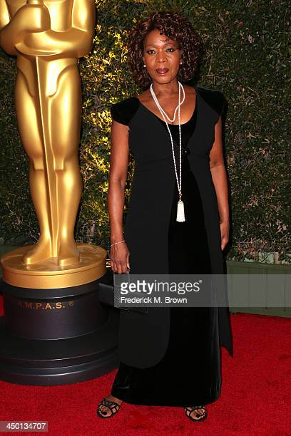 Actress Alfre Woodard arrives at the Academy of Motion Picture Arts and Sciences' Governors Awards at The Ray Dolby Ballroom at Hollywood Highland...