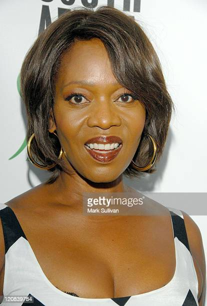Actress Alfre Woodard arrives at the Artists For A New South Africa's Jabulani Celebration at The Wiltern on September 22 2009 in Los Angeles...