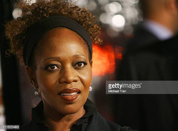 Actress Alfre Woodard arrives at the Los Angeles premiere of Welcome Home Roscoe Jenkins held at the Grauman's Chinese on January 28 2008 in...