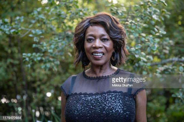 """Actress Alfre Woodard arrives at the premiere of """"Clemency"""" and tribute to Alfie Woodard at 42nd Mill Valley Film Festival at Cinearts @ Sequoia on..."""