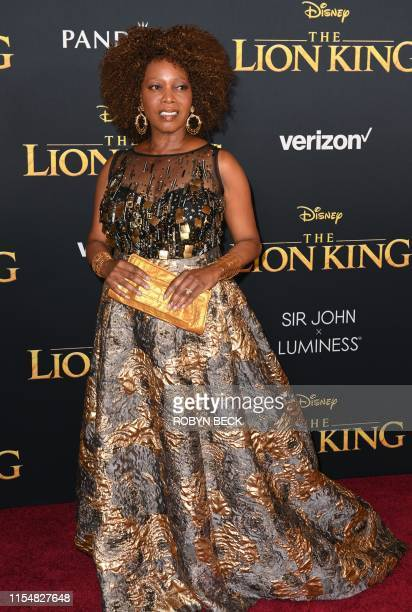 US actress Alfre Woodard arrives for the world premiere of Disney's The Lion King at the Dolby theatre on July 9 2019 in Hollywood