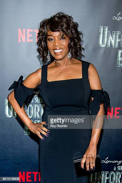 Actress Alfre Woodard attends Lemony Snicket's A Series Of Unfortunate Events New York Screening at AMC Lincoln Square Theater on January 11 2017 in...