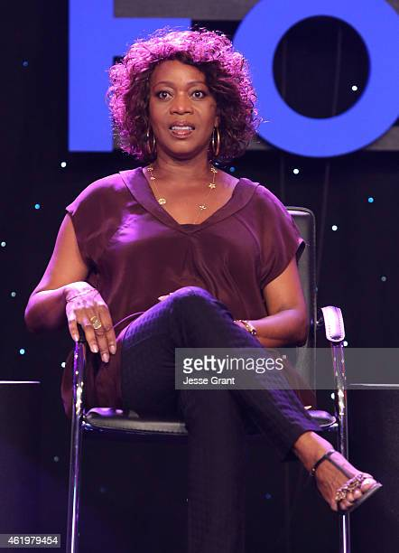 Actress Alfre Woodard attends the 2015 National Association of Music Merchants show at the Anaheim Convention Center on January 22 2015 in Anaheim...