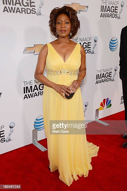 Actress Alfre Woodard attends the 44th NAACP Image Awards at The Shrine Auditorium on February 1 2013 in Los Angeles California