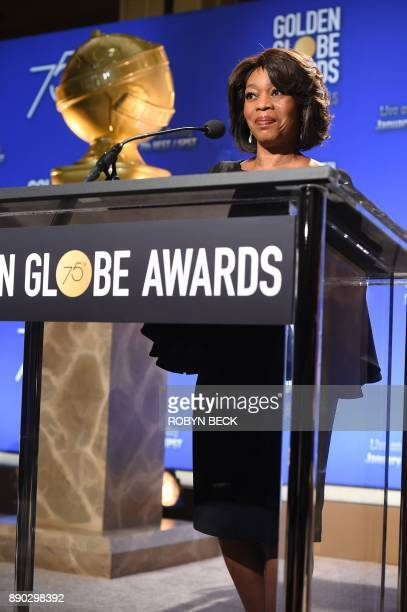 Actress Alfre Woodard attends the 75th Annual Golden Globe Awards nomination announcement December 11 at the Beverly Hilton Hotel in Beverly Hills...
