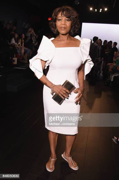 Actress Alfre Woodard attends the Badgley Mischka fashion show during September 2017 New York Fashion Week The Shows at Gallery 1 Skylight Clarkson...