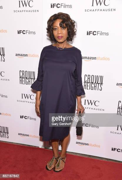 Actress Alfre Woodard attends the 'Crown Heights' New York premiere at The Metrograph on August 15 2017 in New York City