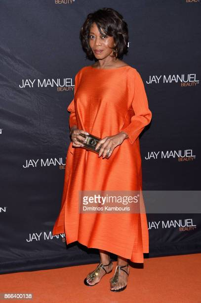 Actress Alfre Woodard attends the Jay Manuel Beauty x Simon Launch Event at Highline Stages on October 25 2017 in New York City