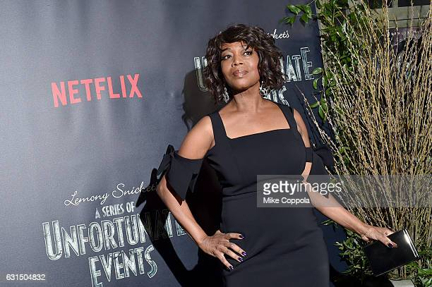 Actress Alfre Woodard attends the Lemony Snicket's A Series Of Unfortunate Events Screening at AMC Lincoln Square Theater on January 11 2017 in New...