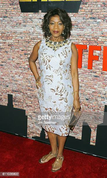 Actress Alfre Woodard attends the 'Luke Cage' New York premiere at AMC Magic Johnson Harlem on September 28 2016 in New York City