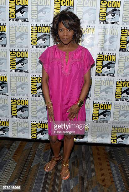 Actress Alfre Woodard attends the Luke Cage press line during ComicCon International 2016 at Hilton San Diego Bayfront on July 21 2016 in San Diego...