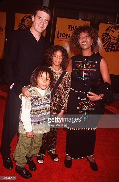 Actress Alfre Woodard companion Rodderick Spencer daughter Mavis and son Dovlin arrive at Disney''s 'The Lion King' at the Pantages Theatre October...