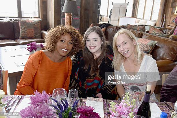 Actress Alfre Woodard film reporter Amy Kaufman and director Marti Noxon attend Lunch Celebrating Films Powered By Women Hosted By Glamour's Cindi...