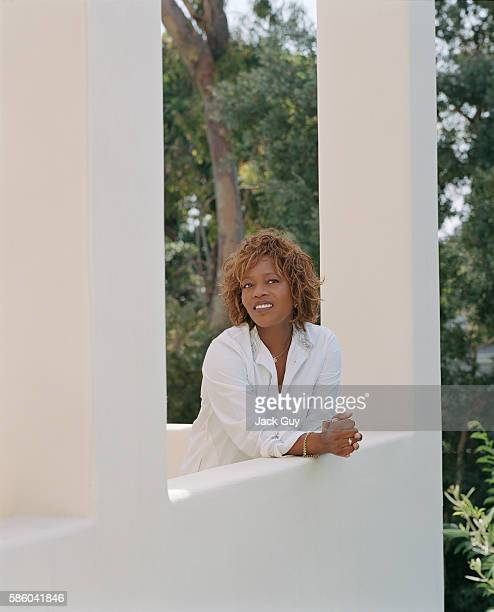 Actress Alfre Woodard is photographed for InStyle Magazine in 2003 at home in Santa Monica California