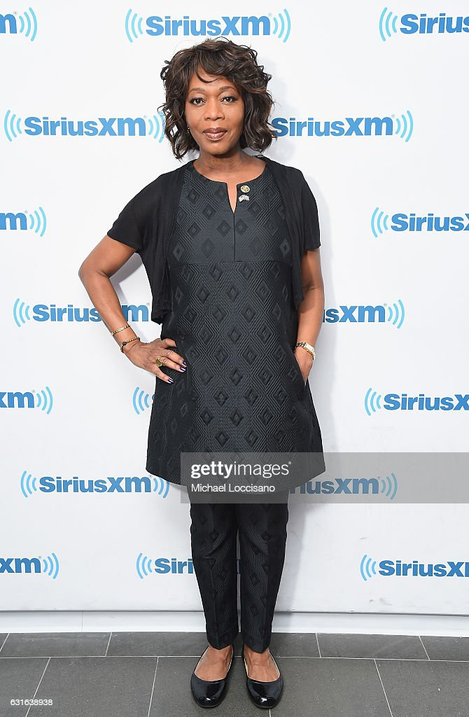 Actress Alfre Woodard visits SiriusXM Studios on January 13, 2017 in New York City.