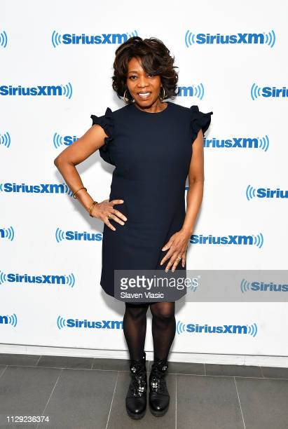 Actress Alfre Woodard visits SiriusXM Studios on March 8 2019 in New York City